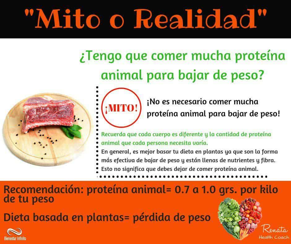 Mito o realidad Proteína