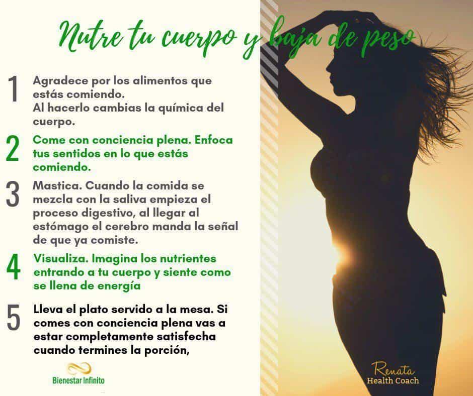 Nutre tu cuerpo y baja de peso
