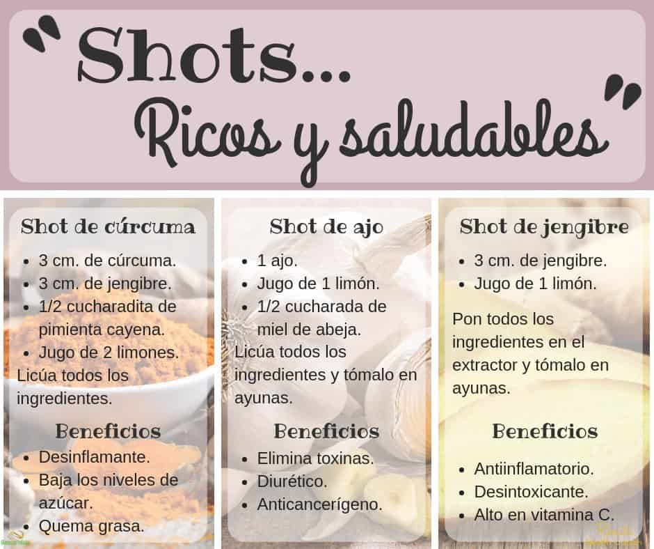 Shots ricos y saludables