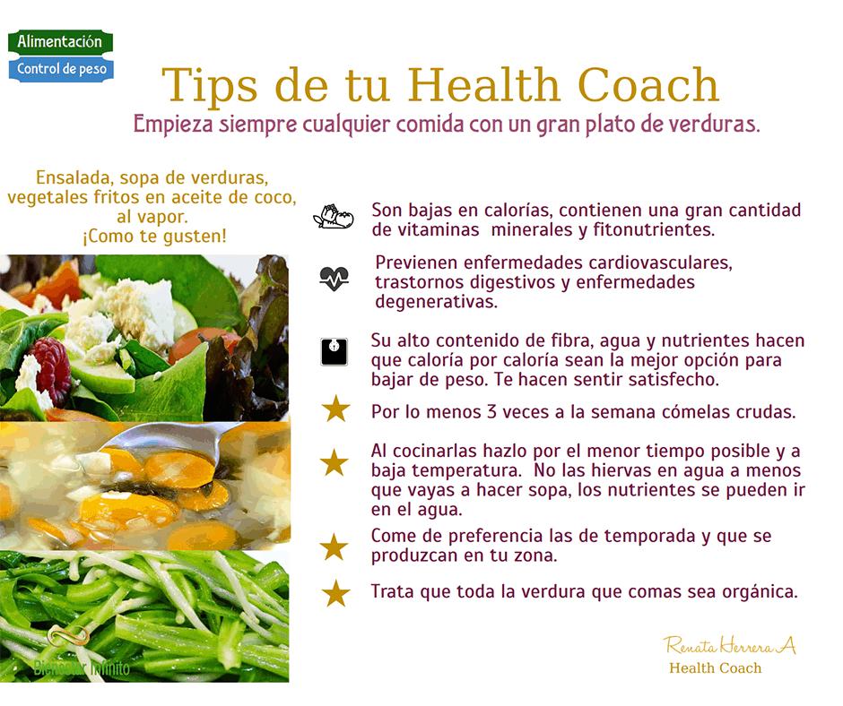 Empieza tus comidas con un plato de verduras