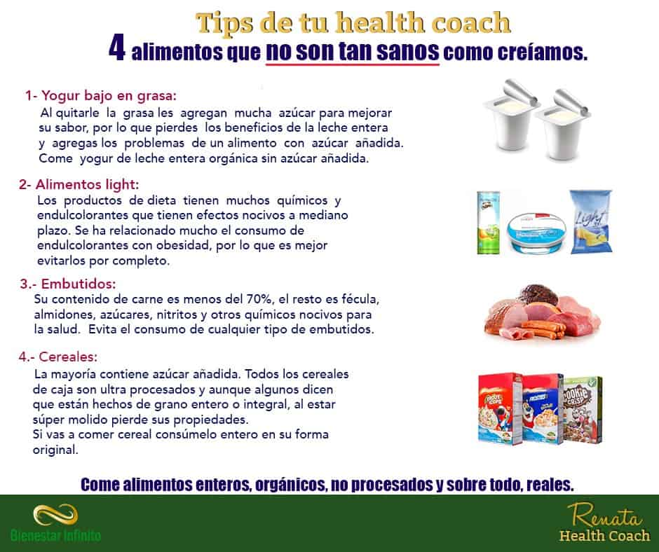 Alimentos no tan sanos