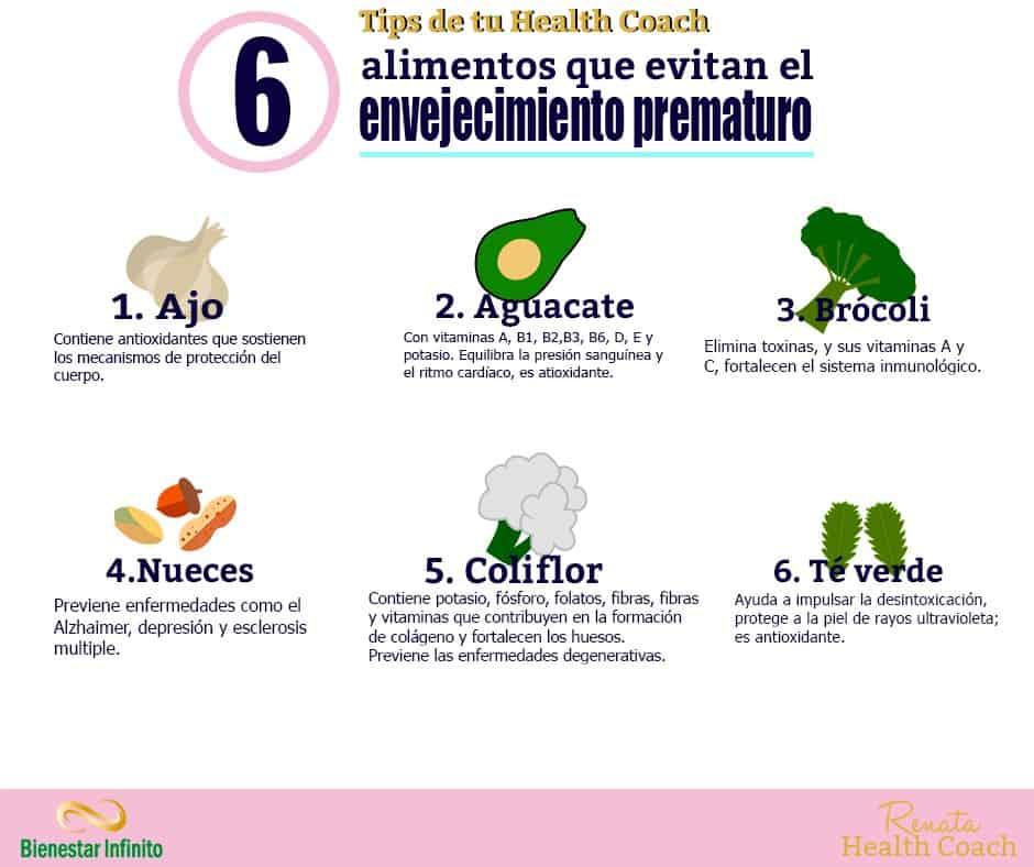 6 alimentos que evitan el envejecimiento prematuro