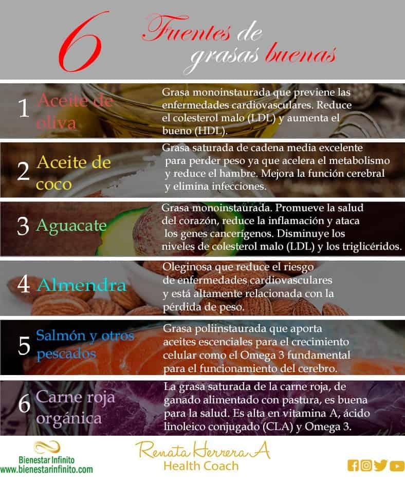 6 fuentes de grasas buenas