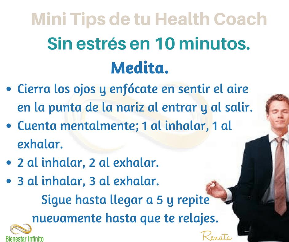 Sin estrés en 10 minutos, medita