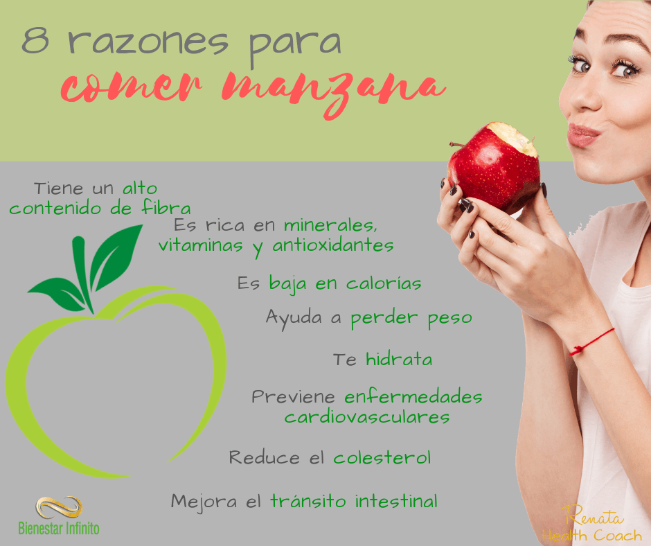 8 razones para comer manzana