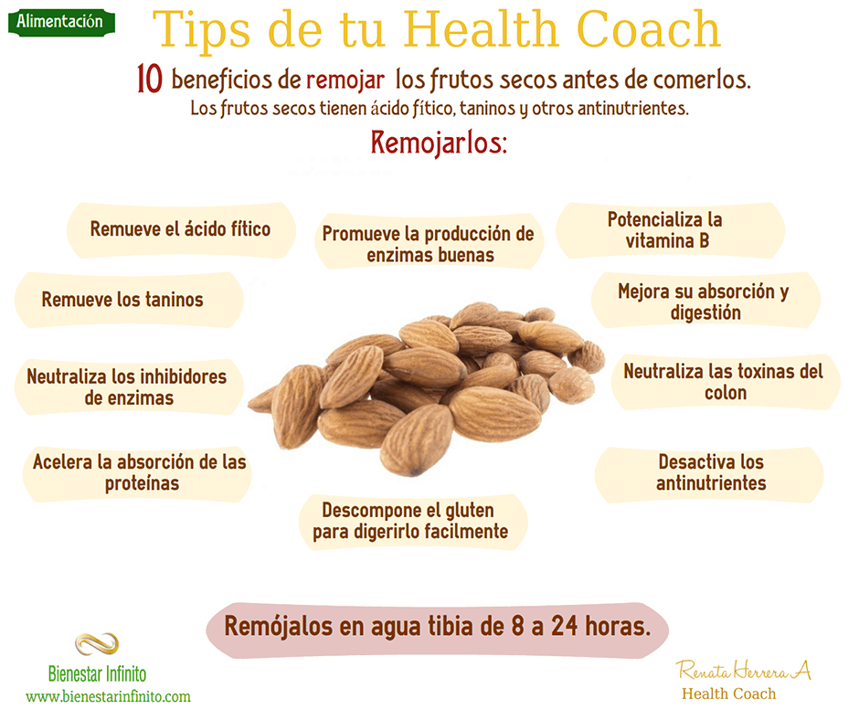 10 beneficios de remojar frutos secos