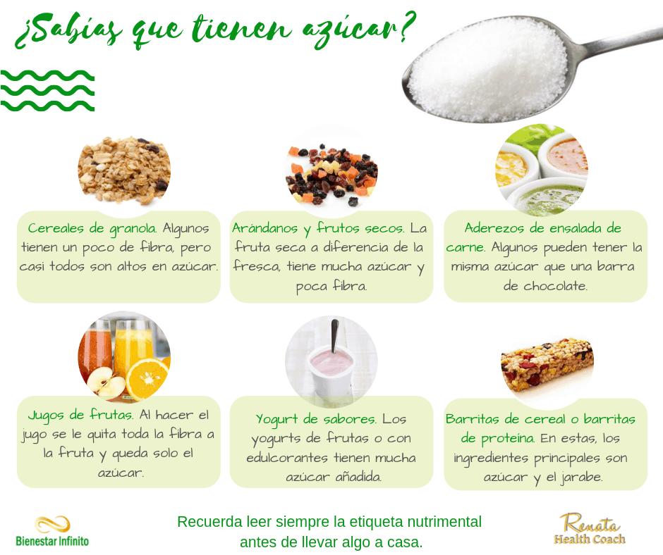 ¿sabías que tienen azúcar?