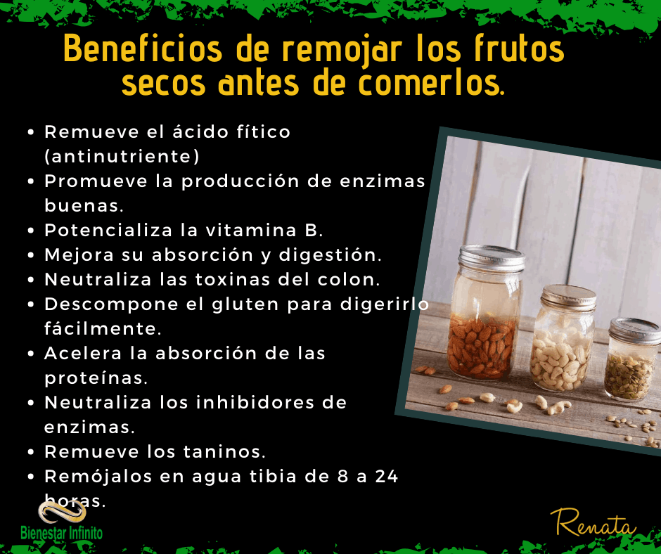 Remojar los frutos secos
