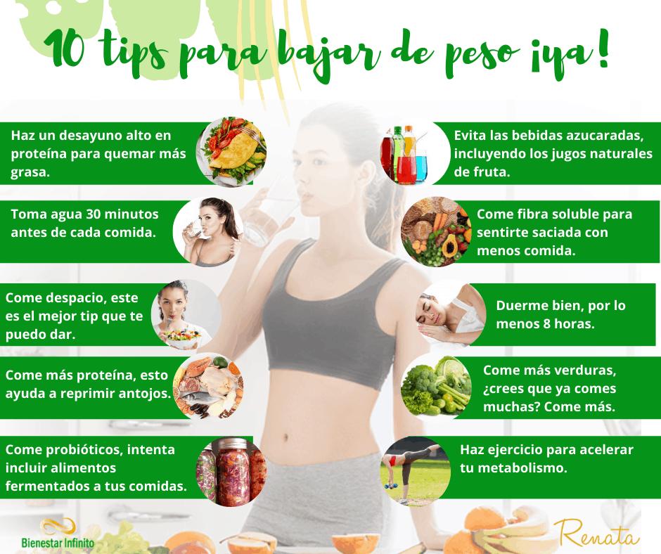 Bajar de peso 10 tips
